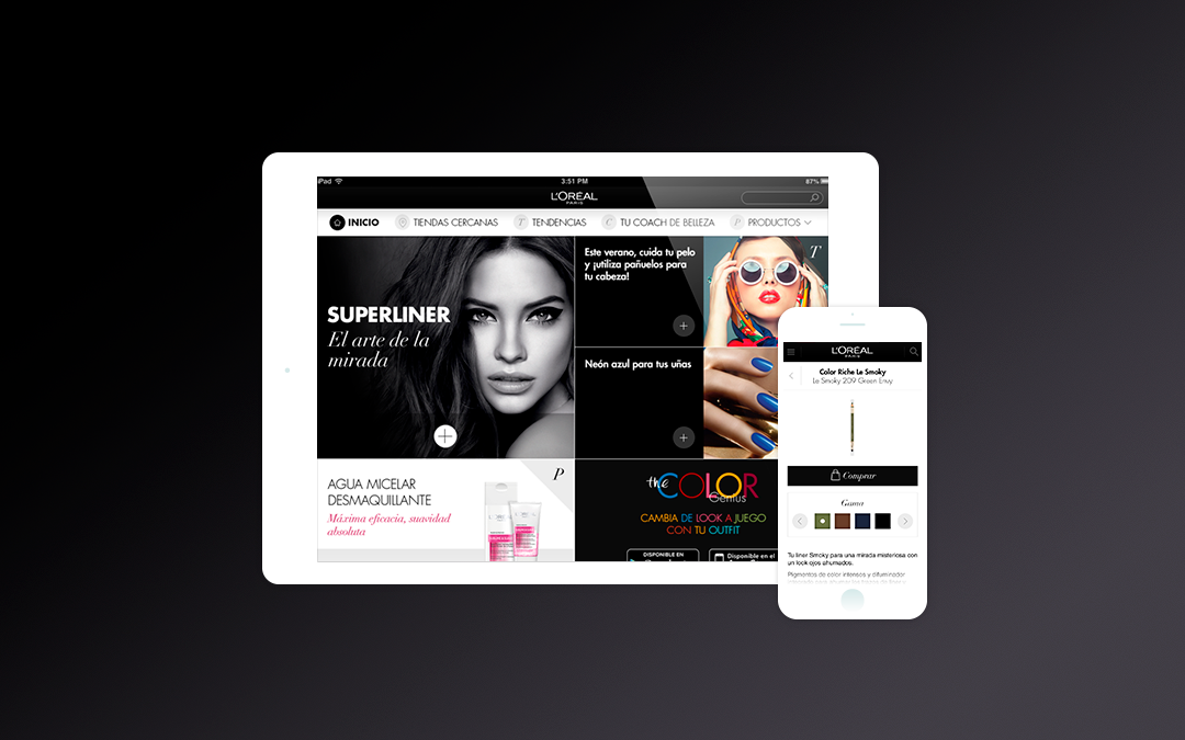 LOreal Paris · Spain Mobile Website