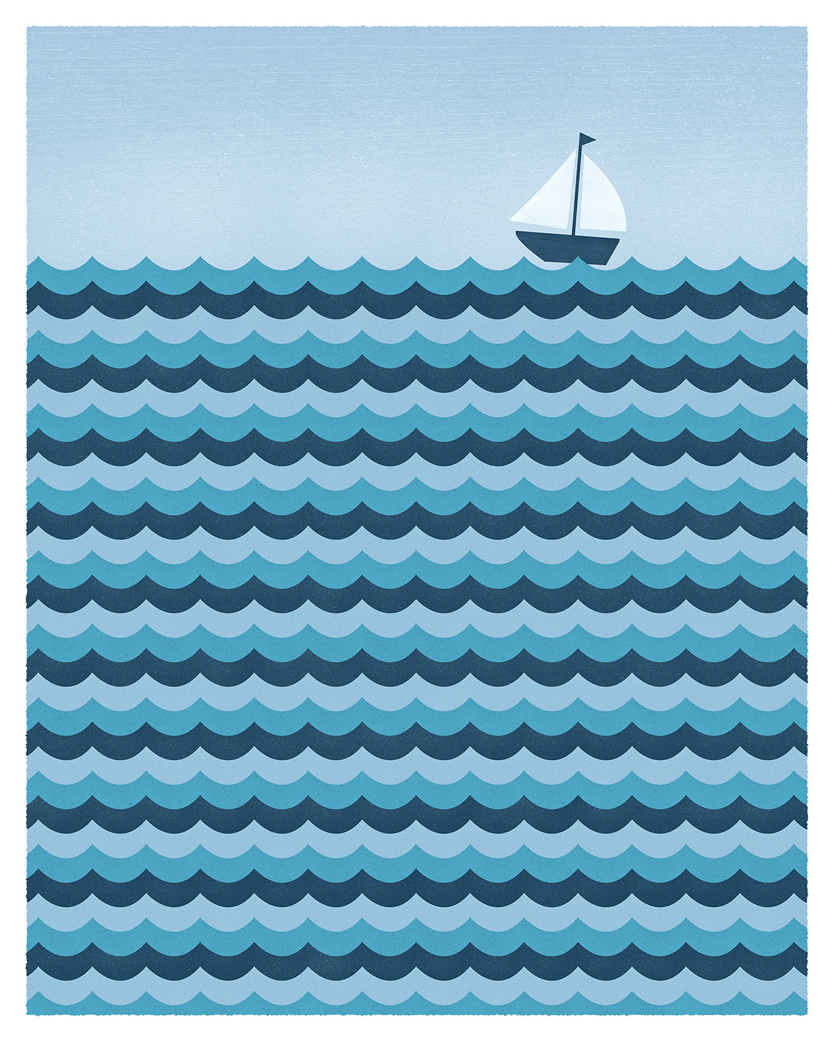 Ocean Waves Illustration