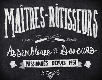 Chalk typography - St Huberts