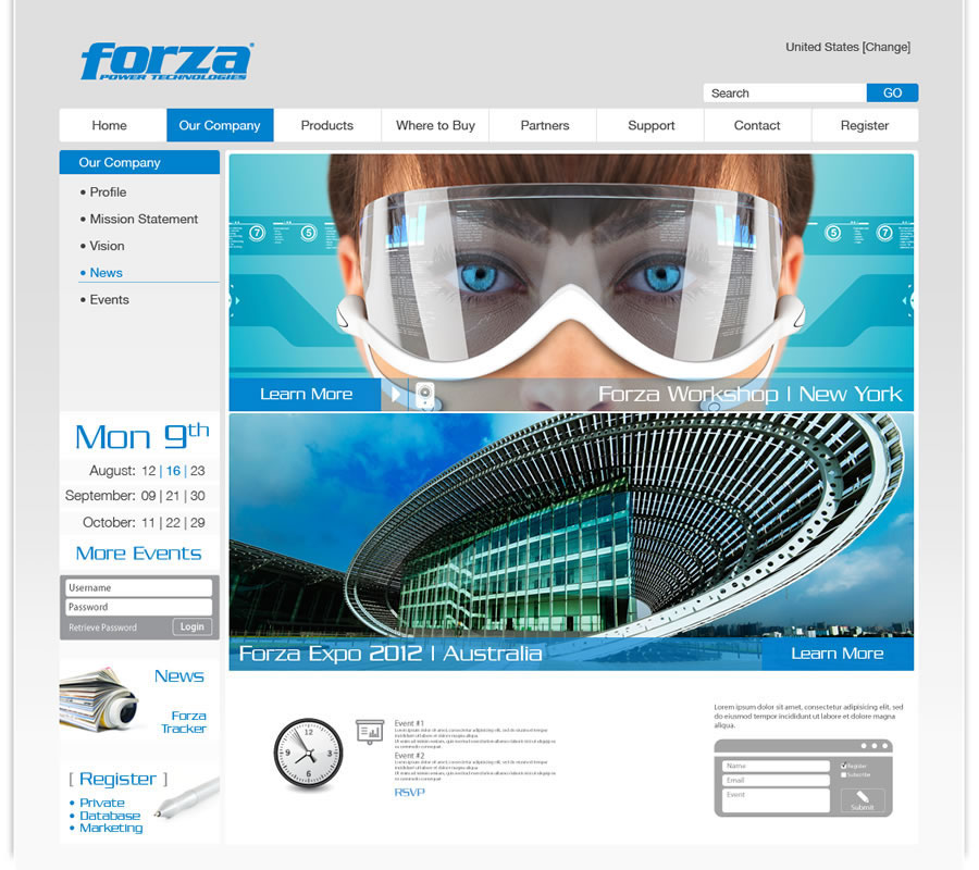 Forza - Power Technologies Website