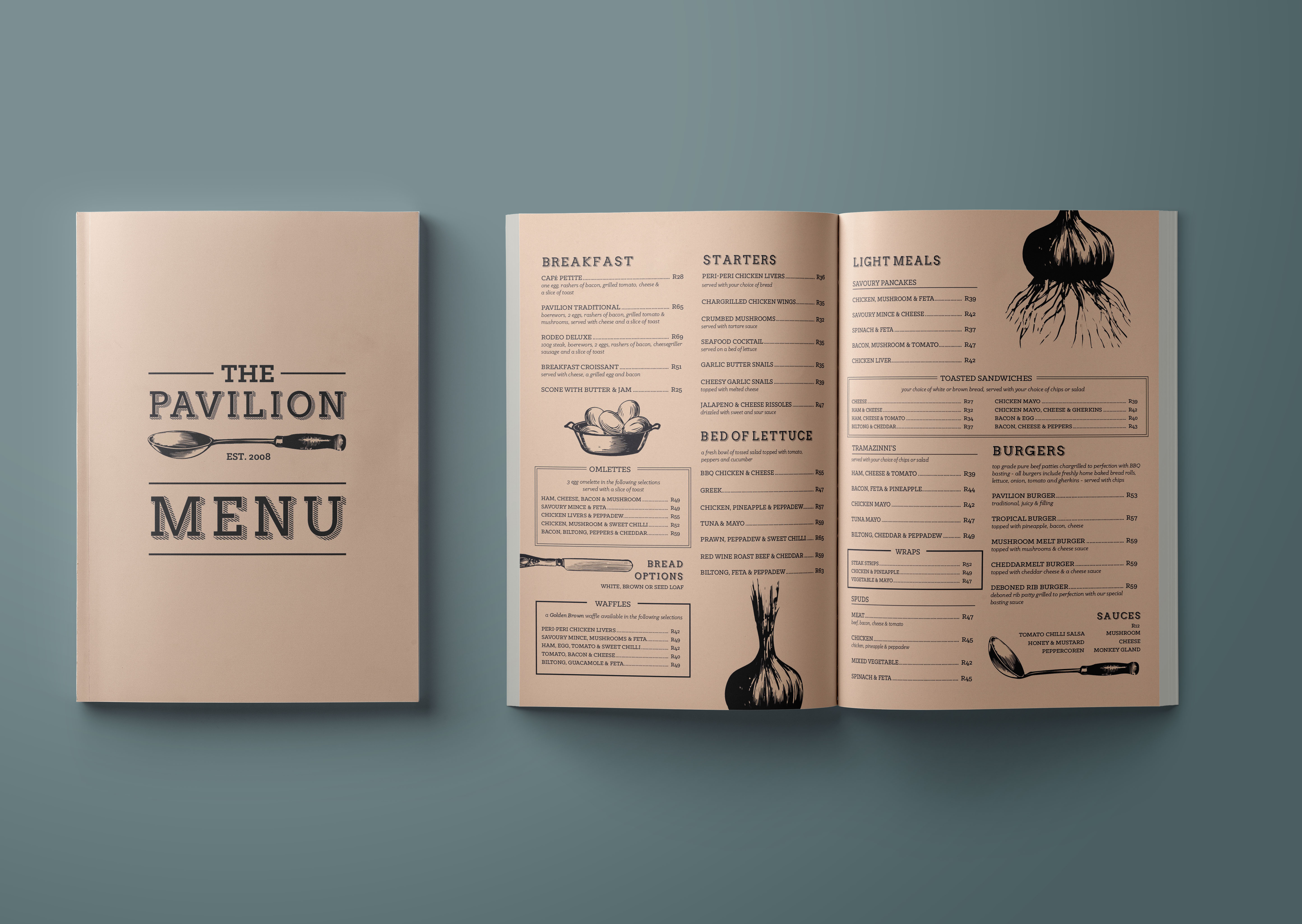 Restaurant Menu: Cafe Pavilion