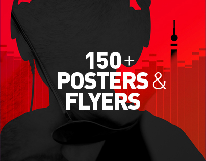 150 + posters and flyers designed for clubbing events