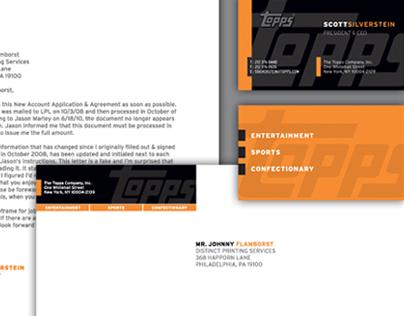 Stationery Design: Topps