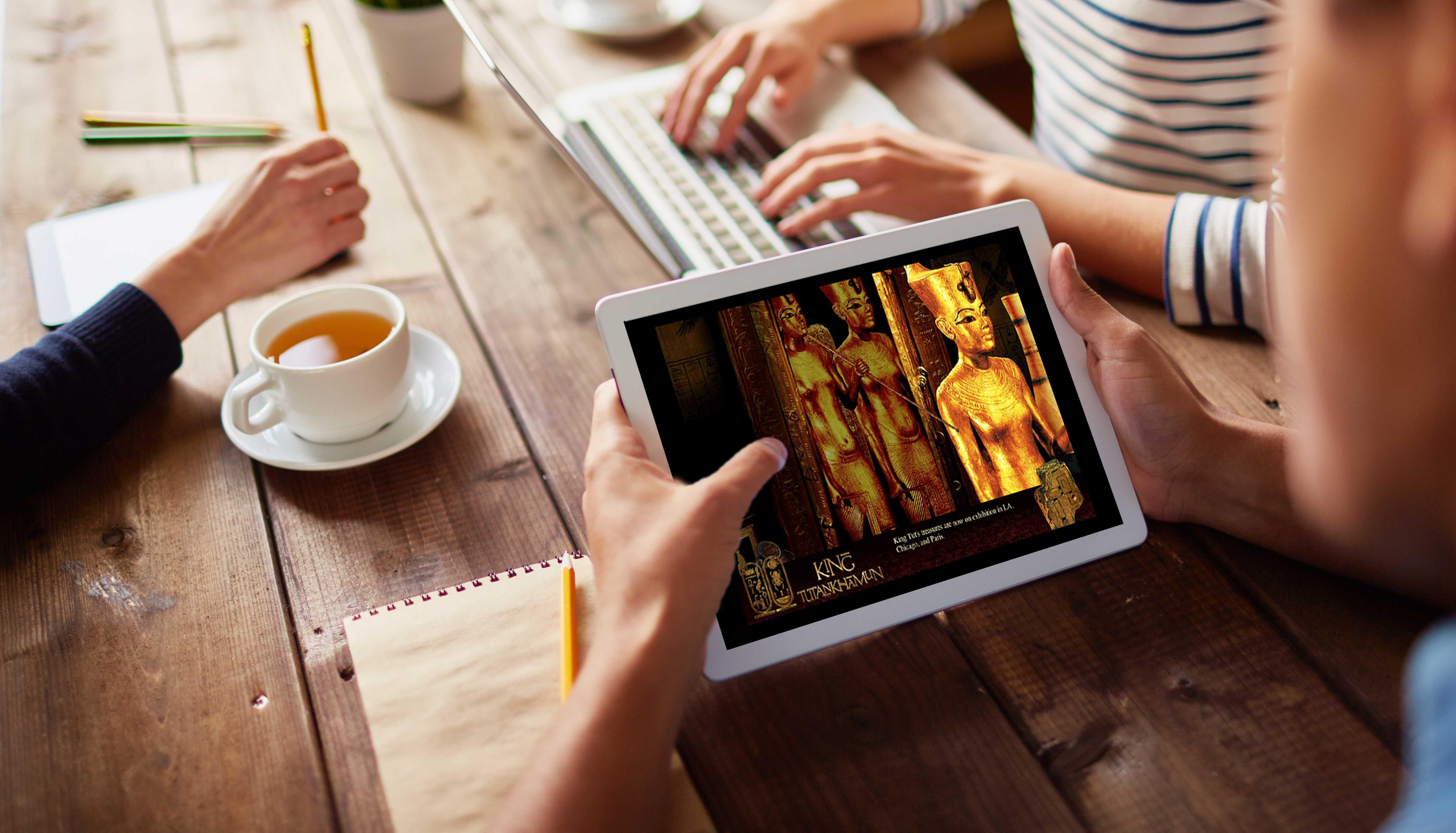 King Tutankhamun Interactive Website
