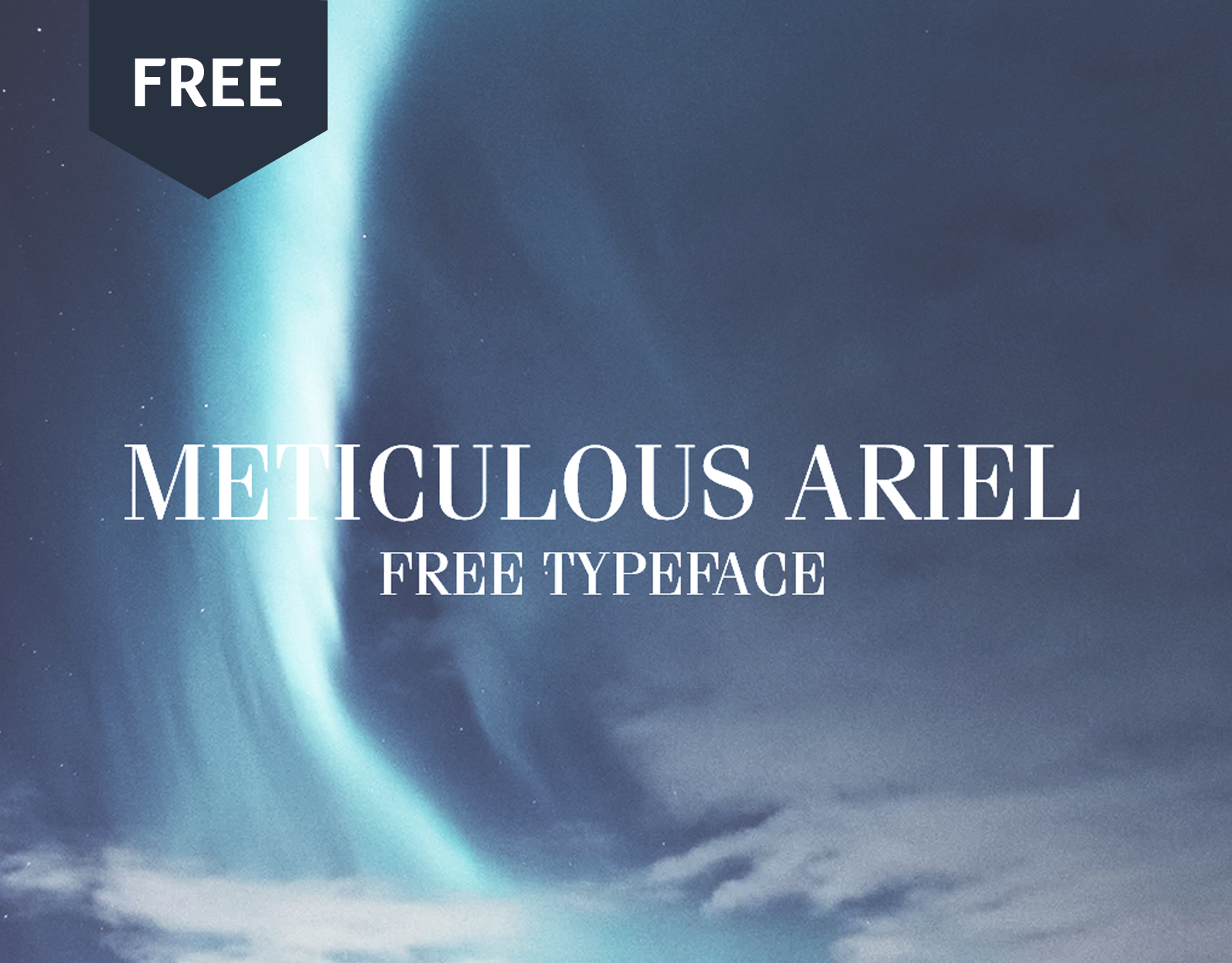 Meticulous Ariel (Free Font)