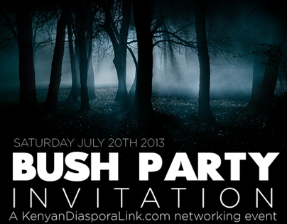 KenyaLink Diaspora Bush Party Flyers
