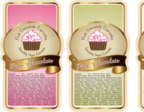 Pink Chocolate Cupcakes Product Label