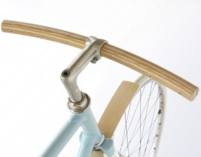 Curved wood handlebar