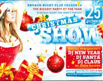 Christmas Show Flyer, PSD Template