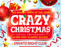 Crazy Christmas Flyer, PSD Template