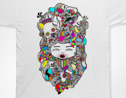 Self-portraited Illustration (Shirt)
