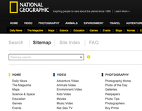 National Geographic Sitemap