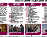 Newspaper TV Listings - Redesign