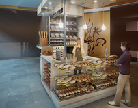 Concept for a Mini Bakery Kiosk In Moscow