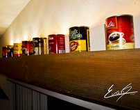 Coffee Can Light Shelf