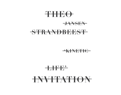 THEO JENSEN Invitation