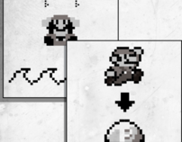 Super Mario pictograms based on the game Portal