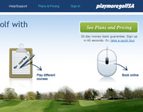 PlaymoregolfSA web Layout and Design