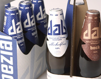 DAB BEER packaging design