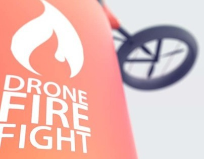 Forest fire fighting drone