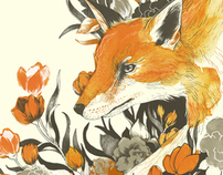 fox in foliage