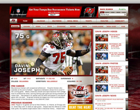 NFL Team Specific Website and Mobile Site