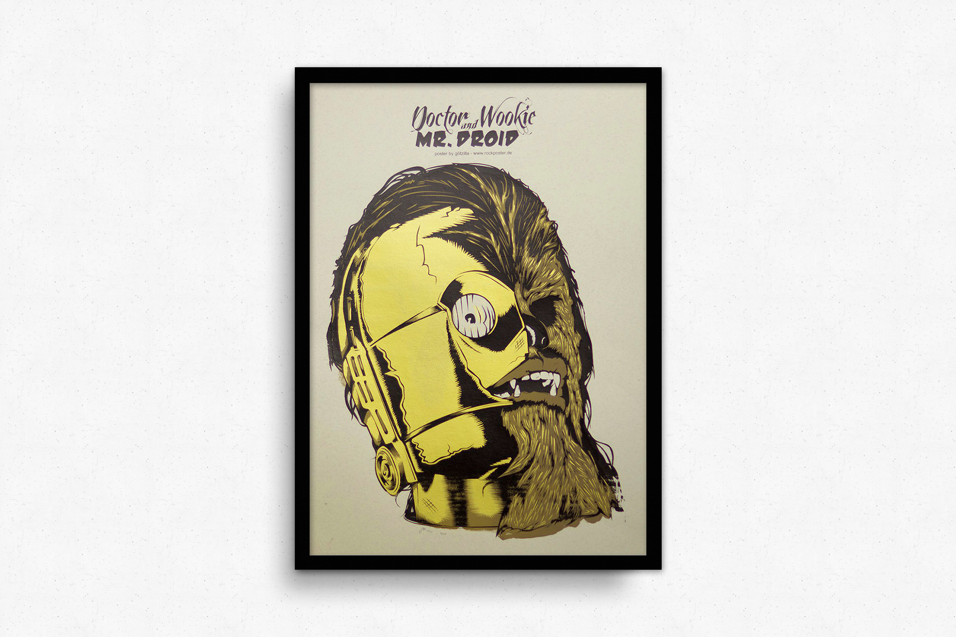 Dr. Wookie & Mr. Droid - Artprint