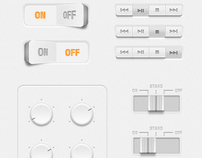 ZWANGs free GUI set 01 - White Buttons & Switches