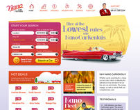 Nano Car Rentals website