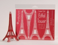 6 inch Laser Cut Paper Eiffel Tower