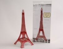 12 inch Laser Cut Paper Eiffel Tower
