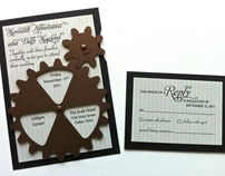 Functional gear themed wedding invitation