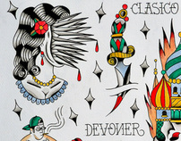various tattoo flash