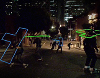 Freebord // Neon skaters