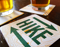 Hike | Bike | Drive | Beer coasters