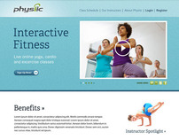 Online Fitness & Yoga Video Website