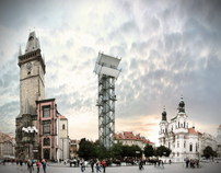 Temporary observatory tower for Prague