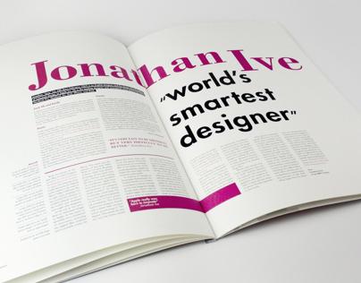 KA&D typographic magazine