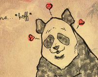 Valentine Panda Greeting Card