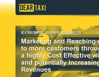 dear taxi / website + promo print