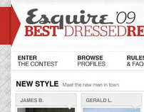 Esquire Best Dressed Real Man: Site Design