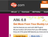 AOL: AIM.com User Experience & Visual Design