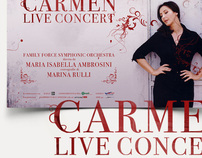 Carmen live concert manfesto e campagna marketing