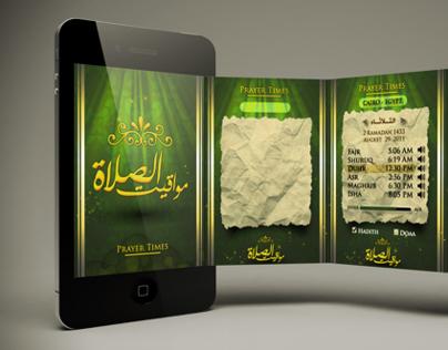 Prayer Times - mobile application