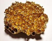 Gold Wasp Nest Wall Ornament