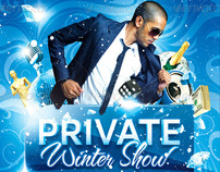 Private Winter Show Flyer, PSD Template