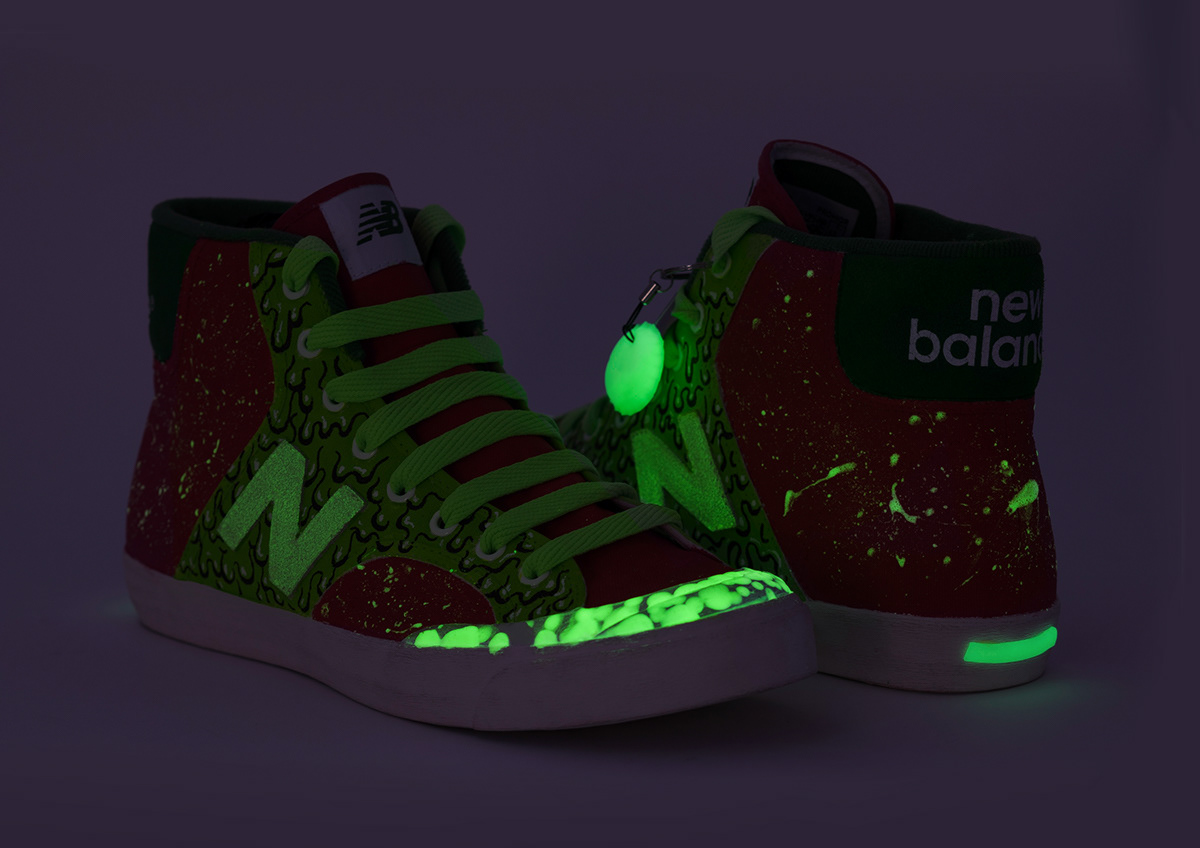 New Balance Glow-in-the-Dark Custom Kicks