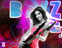 BZZZME.COM - CD COVER GRAPHIC DESIGN GIRL ROCK