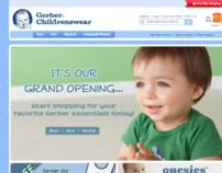 Gerber Childrenswear Website