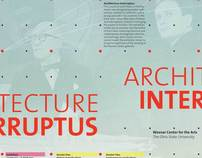 Architecture Interruptus Exhibit Concept